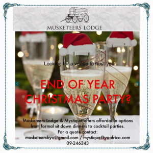 Musketeers Lodge Christmas Party